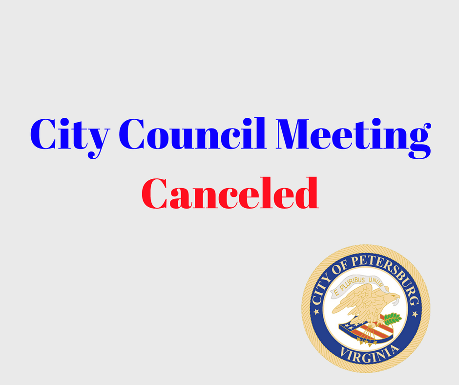 City Council MeetingCanceled